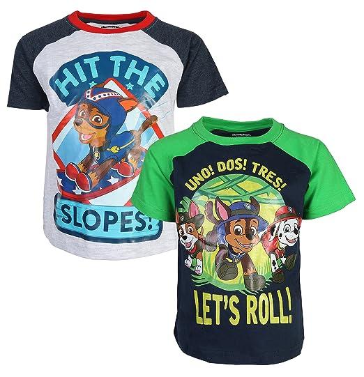 31a8c011d5f Amazon.com  Nickelodeon Paw Patrol Boy s 2-Pack Fashion T-Shirt ...