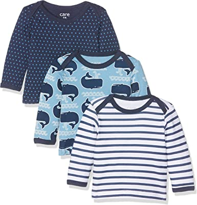 TALLA 3 meses/62 cm. Care Camisa Manga Larga Bebé-Niños, Pack de 3