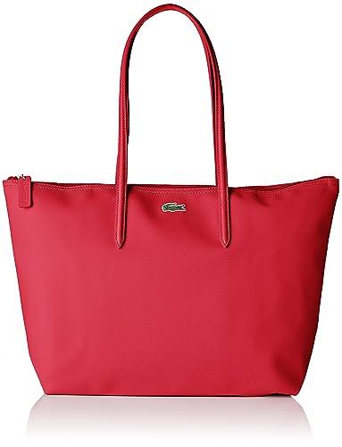 67263cfe23 Lacoste Sac Cabas Toile PVC Femme, Bandouliere (Rose Virtual Pink),  14x29.5x35 cm (W x H x L): Amazon.fr: Chaussures et Sacs