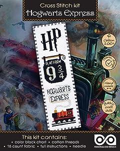 Cross Stitch Kit 'Hogwarts Express: Platform 9¾ King's Cross Station' Bookmark