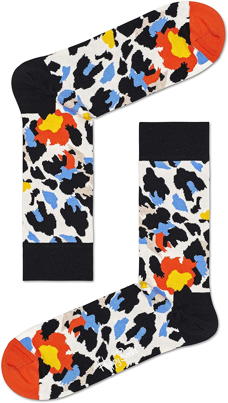 Happy Socks Mens Leopard Sock 2-Pack