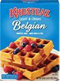 Krusteaz Light & Crispy Belgian Waffle Mix - No Artificial Flavors, Colors, or Preservatives - 28 OZ (Pack of 3)