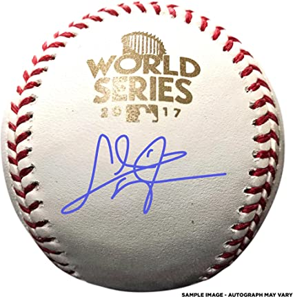 59ae902ebab Chris Taylor Los Angeles Dodgers Autographed 2017 World Series Logo Baseball  - Fanatics Authentic Certified