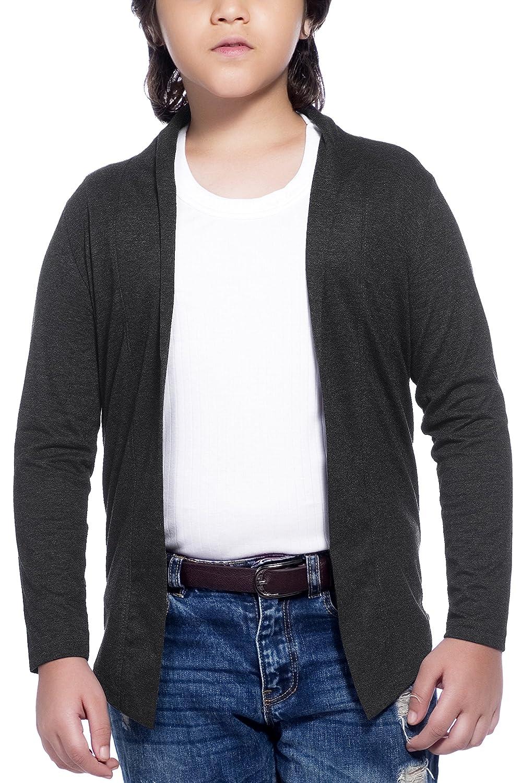 Maniac Kids Fullsleeve Dark Grey Cotton Shrug: Amazon.in: Clothing &  Accessories