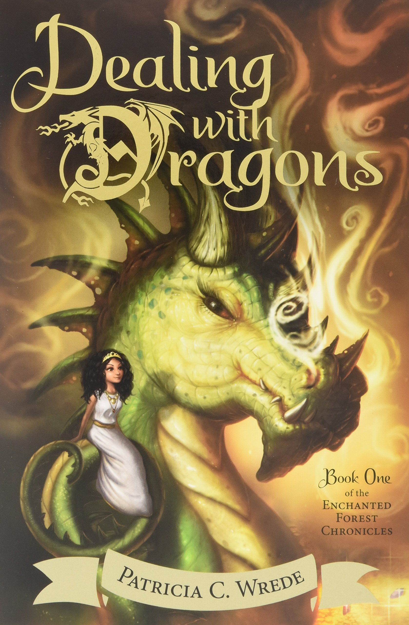Image result for dealing with dragons book cover