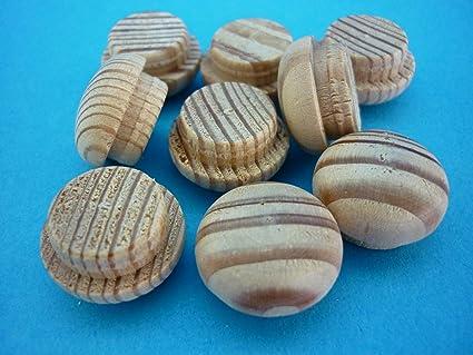 1 paquete de tapones embellecedores 5125, madera de alerce 25 mm