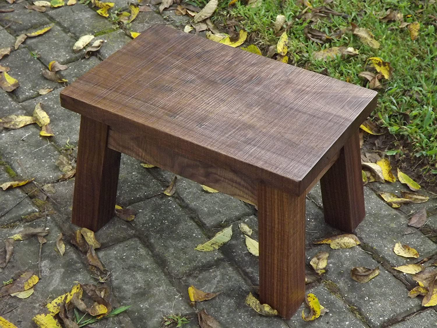 Swell Amazon Com Solid Black Walnut Step Stool Modern Rustic Squirreltailoven Fun Painted Chair Ideas Images Squirreltailovenorg
