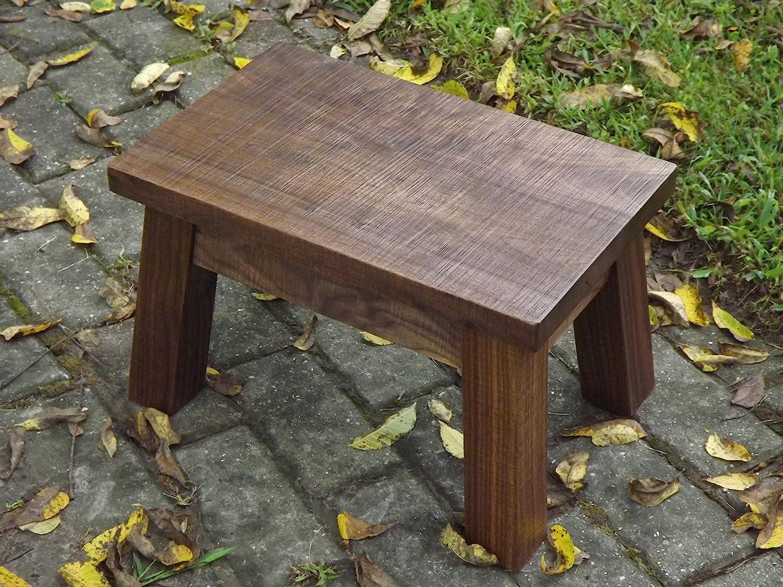 Astonishing Amazon Com Solid Black Walnut Step Stool Modern Rustic Machost Co Dining Chair Design Ideas Machostcouk