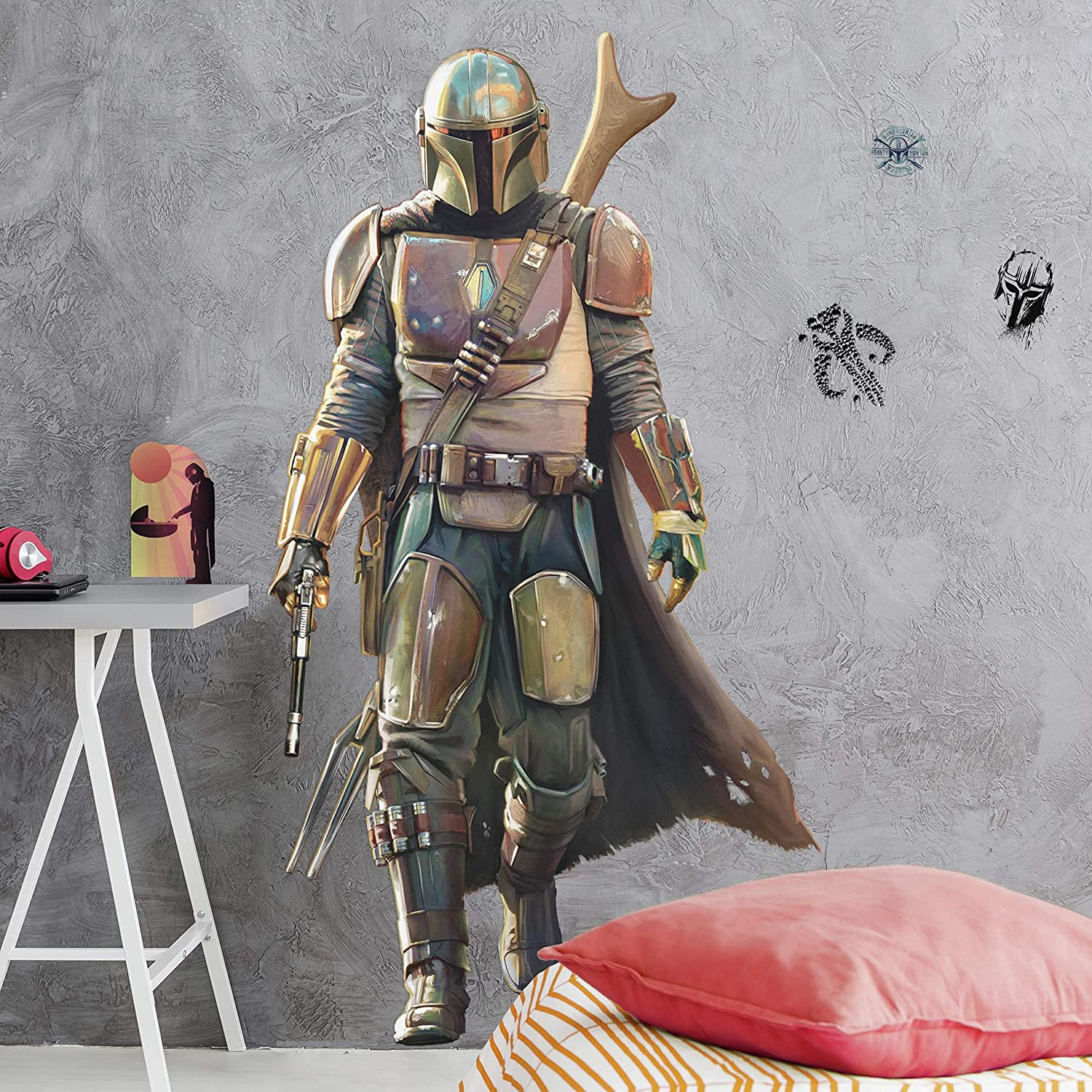 RoomMates Star Wars The Mandalorian Peel and Stick Giant Wall Decals