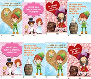 Peter Pan Themed Valentine Day Classroom Sharing Card Set (24 Included)