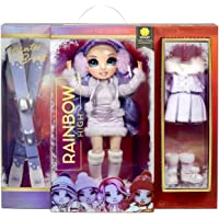 Rainbow High Winter Break Violet Willow - Paarse fashion pop met 2 outfits, sneeuw uitrusting & standaard - Inclusief…