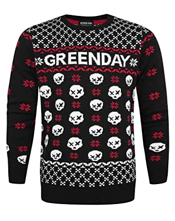 Green Day Christmas.Official Green Day Skull Unisex Christmas Jumper