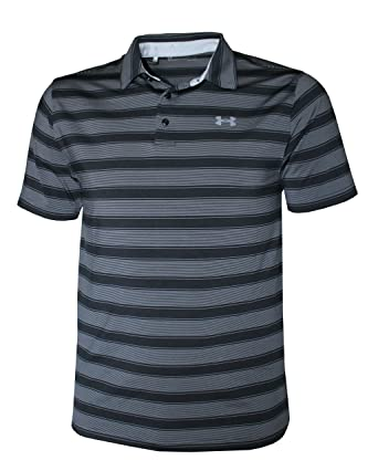 ad7626f533 Under Armour Men's Performance Striped Shirt HeatGear Polo at Amazon Men's  Clothing store: