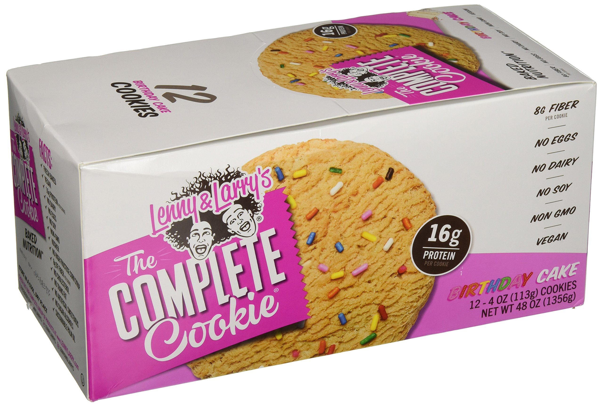 Amazon Lenny Larrys The Complete Cookie Birthday Cake 16g Plant Protein Vegan 4 Ounce Cookies Pack Of 12 Grocery Gourmet Food