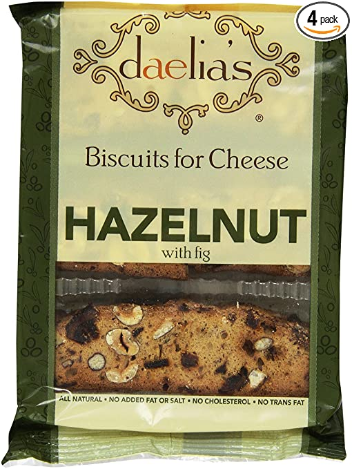Daelia's Biscuits for Cheese Hazelnut with Fig, 4-Ounce (Pack of 4)