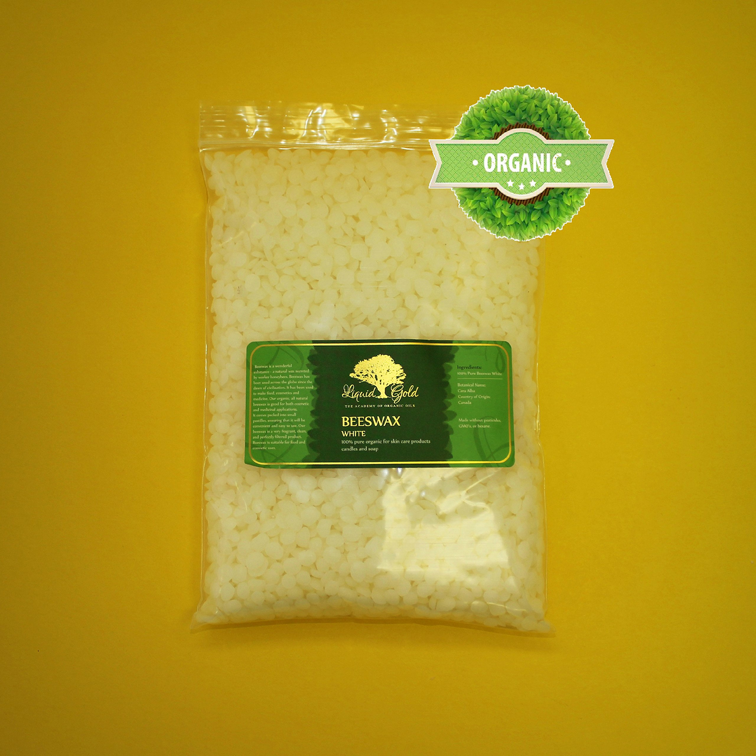 12 Pounds of Premium White Beeswax Organic Pastilles 100% Natural Pure by Liquid Gold
