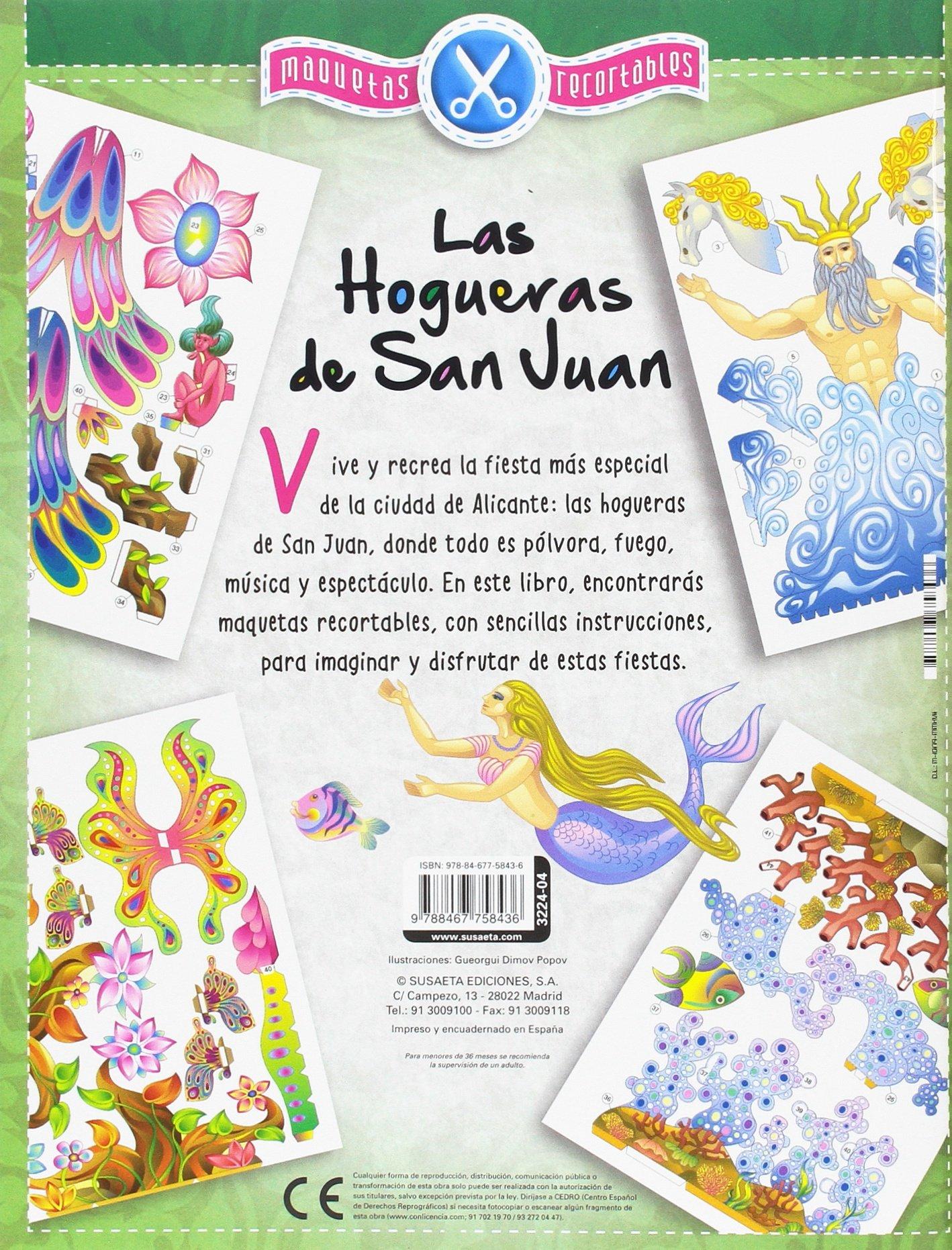 Las Hogueras de San Juan, maquetas recortables: Amazon.es: Susaeta, Equipo, Dimov Popov, Gueorgui: Libros