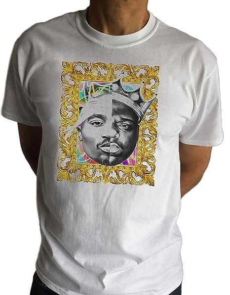 Para hombre Notorious B.I.G VS Hip Hop Swag - Marco de 2 pac rap Tupac Biggie  Smalls Retro C14 - 4 Blanco blanco  Amazon.es  Ropa y accesorios 831f928c598