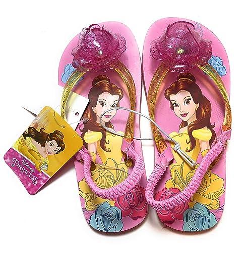 517f4b050 Image Unavailable. Image not available for. Color  Belle Disney Princess  Girls  Flip-Flop Sandal ...