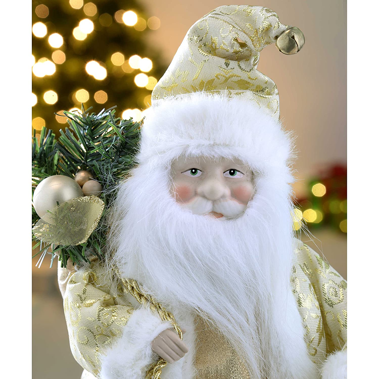 werchristmas father christmas tree top topper decoration 30 cm