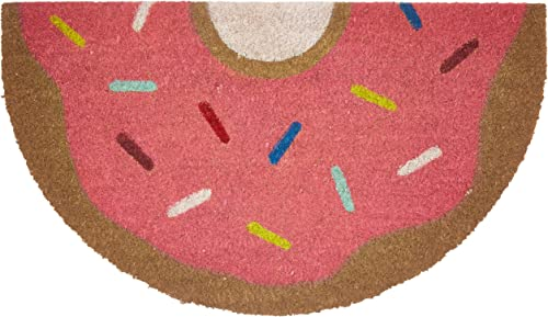 Doormat Donut 28 x 16 inch, Anti-Slip Backing, Coconut Fibre