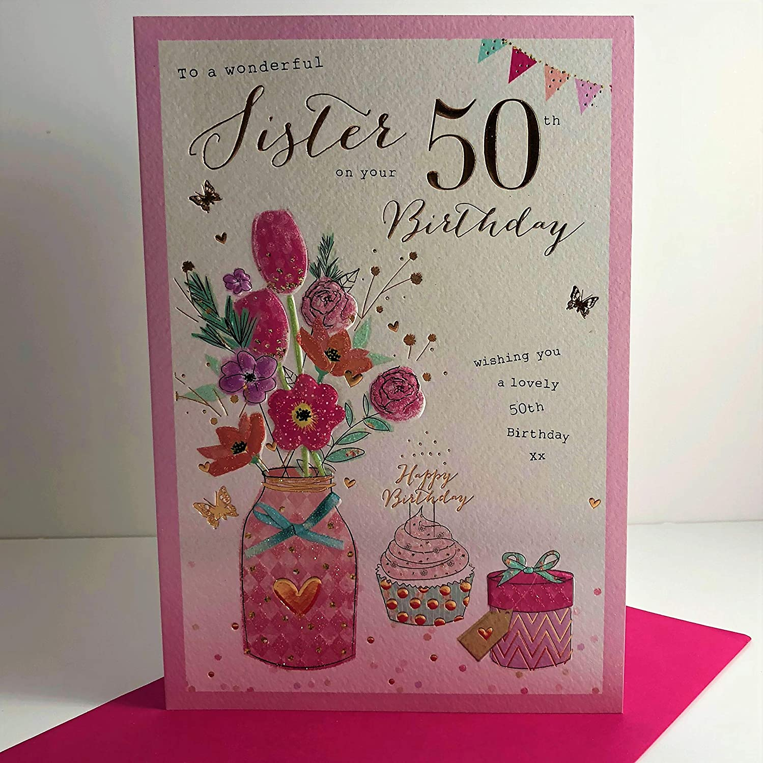 Sister 50th Birthday Card Amazoncouk Kitchen Home