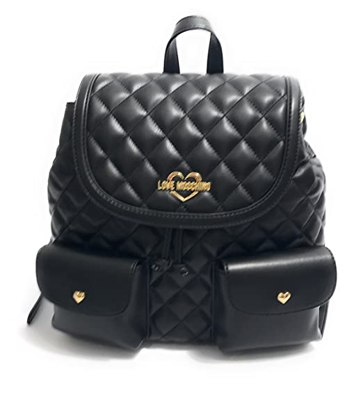 acde1b608af Love Moschino Superquilted Backpack black  Amazon.co.uk  Clothing