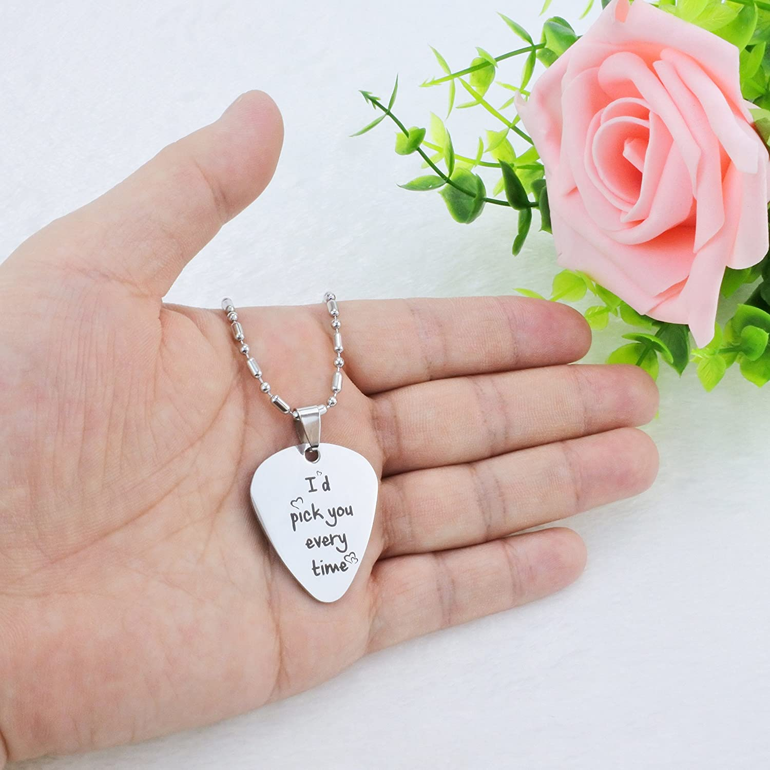 Guitar Pick Pendant Necklace by AnalysisLove \