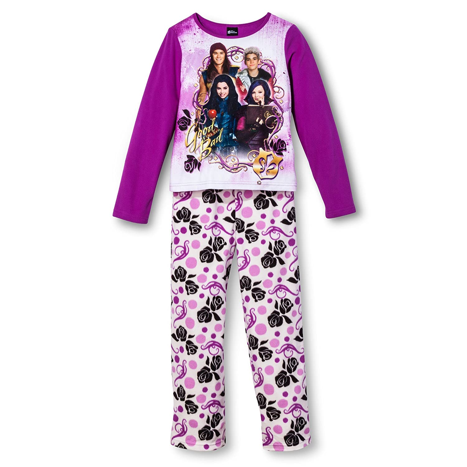 Amazon.com: Disney Big Girls' Descendants Fleece Pajama Set: Clothing