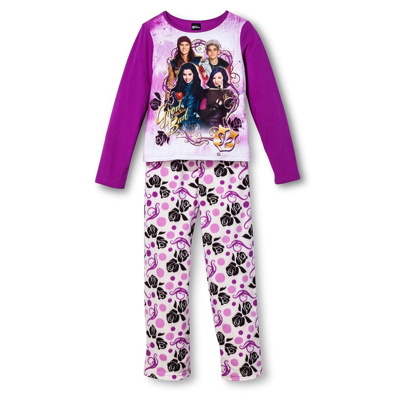 Amazon.com: Disney Big Girls' Descendants Fleece Pajama Set: Clothing