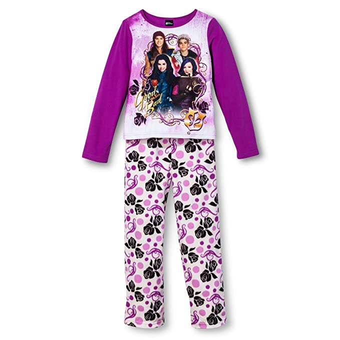 Disney Big Girls Juego de pijama de forro polar Descendientes
