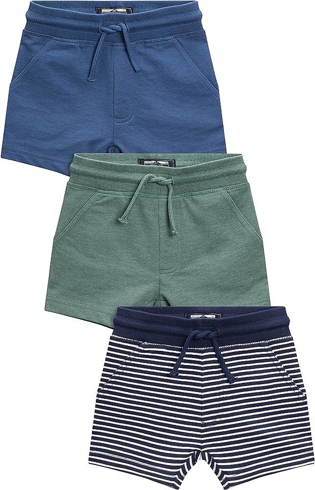 next Niños Pack De Tres Pantalones Cortos De Rayas (3 Meses - 6 Años) Azul Marino/Blanco 5-6 años: Amazon.es: Ropa y accesorios