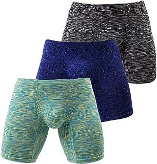 yuyangdpb Mens Long Leg Boxer Briefs Athletic Comfort Underwear