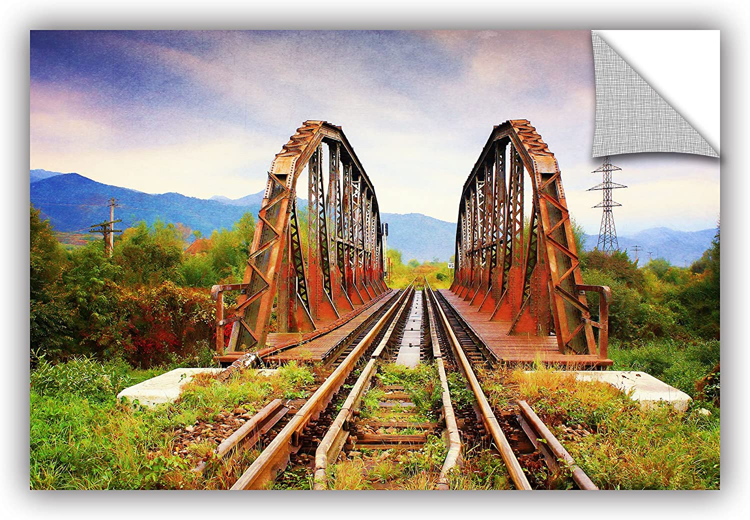 ArtWall Dragos Dumitrascus Iron Bridge Removable Wall Art 24 x 36