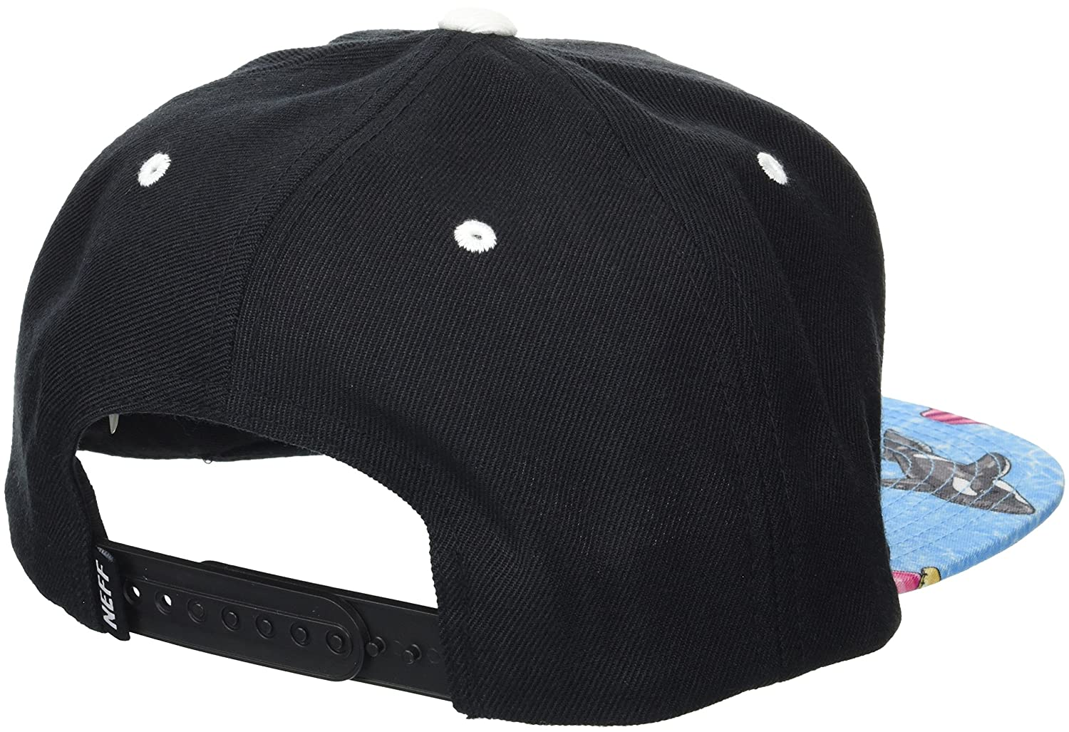 164039e15f8e Neff Men's Daily Smile Pattern Snapback Hats-Custom Adjustable, Black/Pool  Party, One Size: Amazon.ca: Clothing & Accessories
