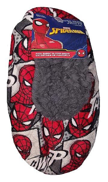 Marvel Comics Spider-Man Gray Slipper Socks