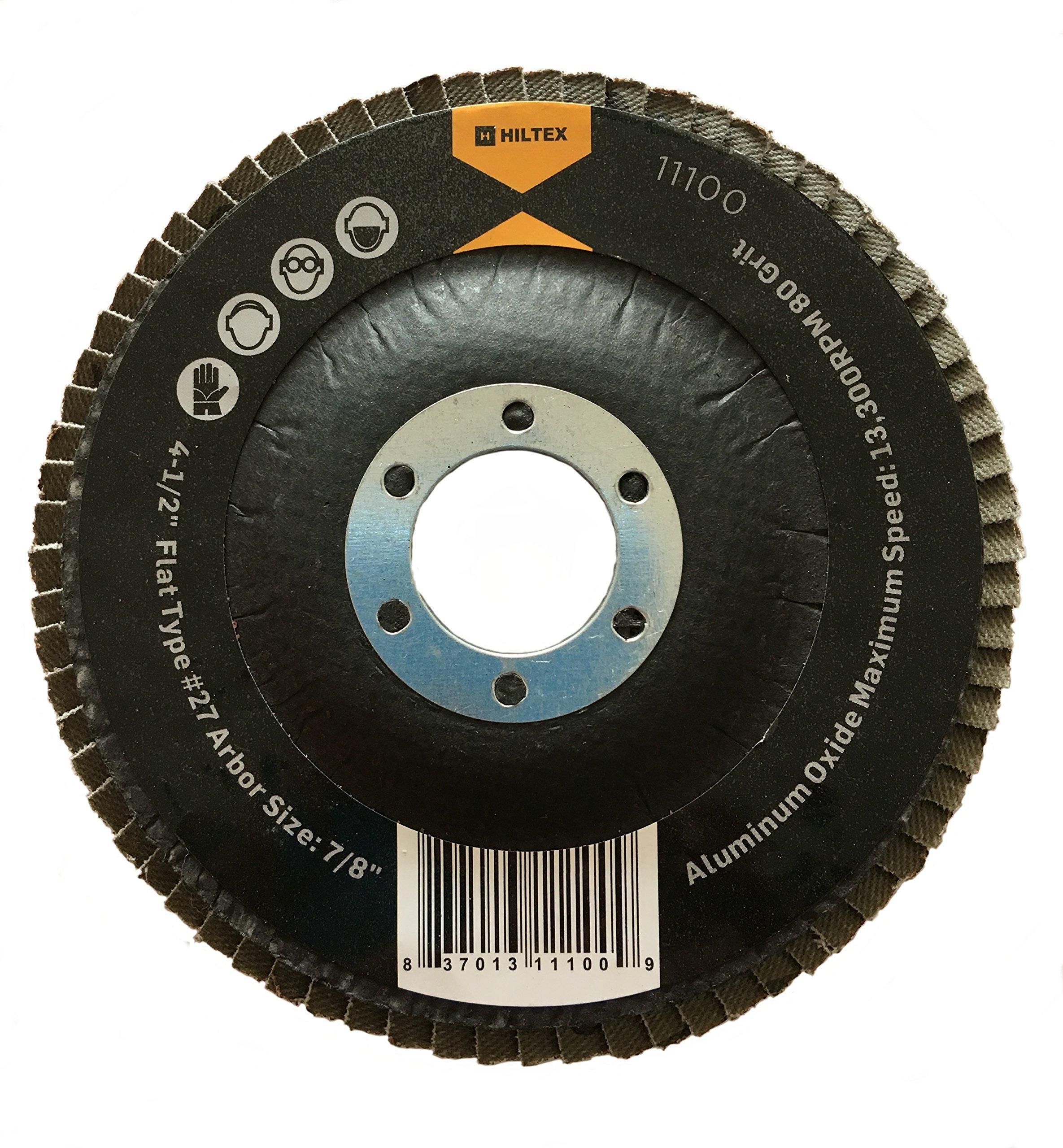 10 Pack 4-1/2'' Aluminum Oxide Flap Disc 80 Grit