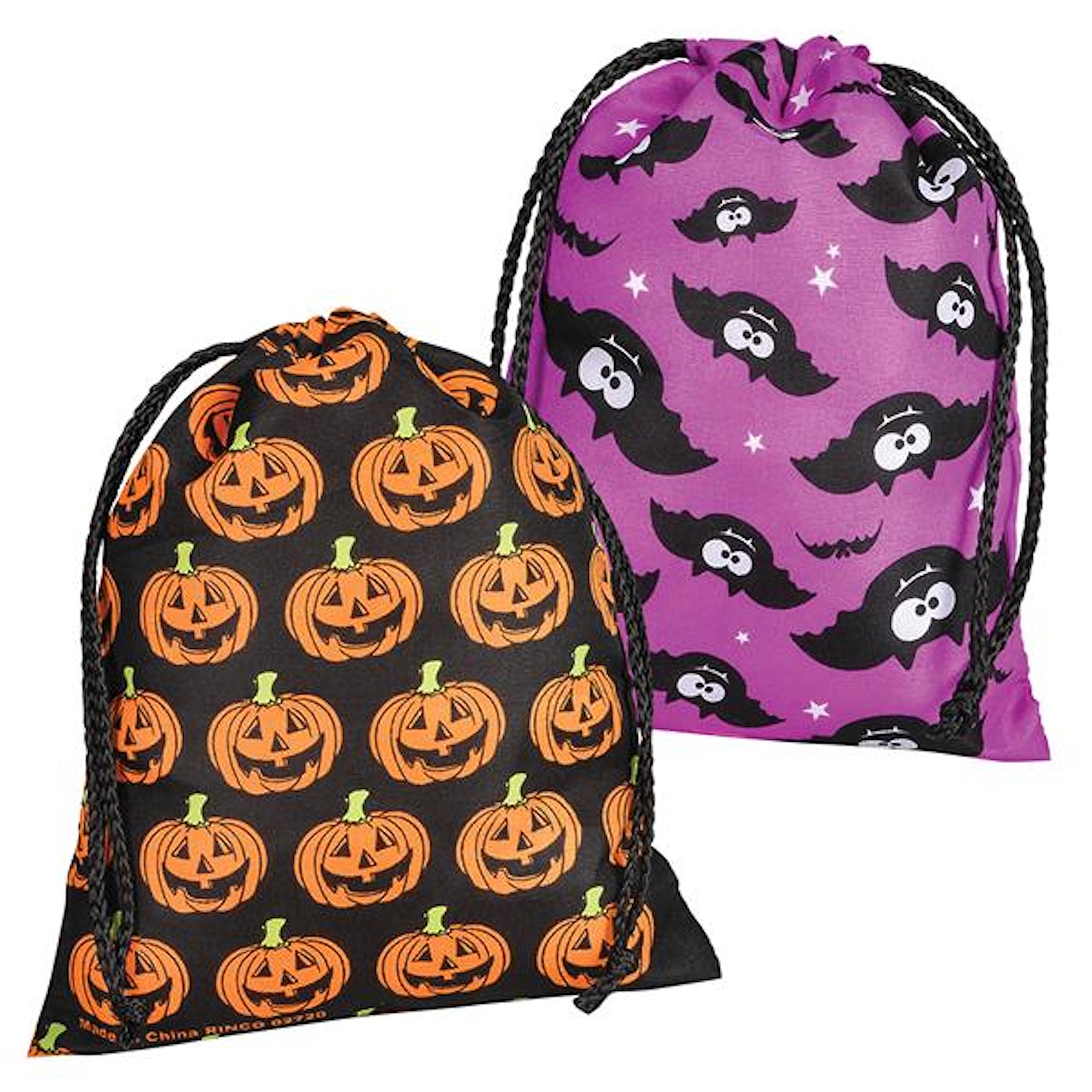5f89a37762 Amazon.com  Rhode Island Novelty Large Assorted Halloween Drawstring Trick  Or Treat Bags