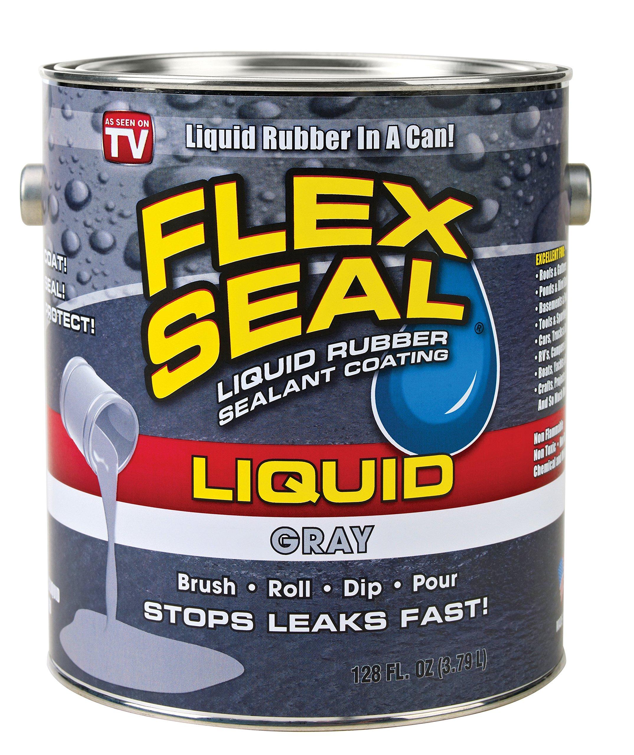 Flex Seal Liquid Rubber in a Can, 1-gal, Gray