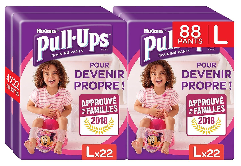 Huggies Pull-Ups Fille Taille 6/Large (16-23 kg), Couche-Culotte d'Apprentissage de la Propreté Disney Princesses x44 (2 paquets de 22 culottes) 5029053536354