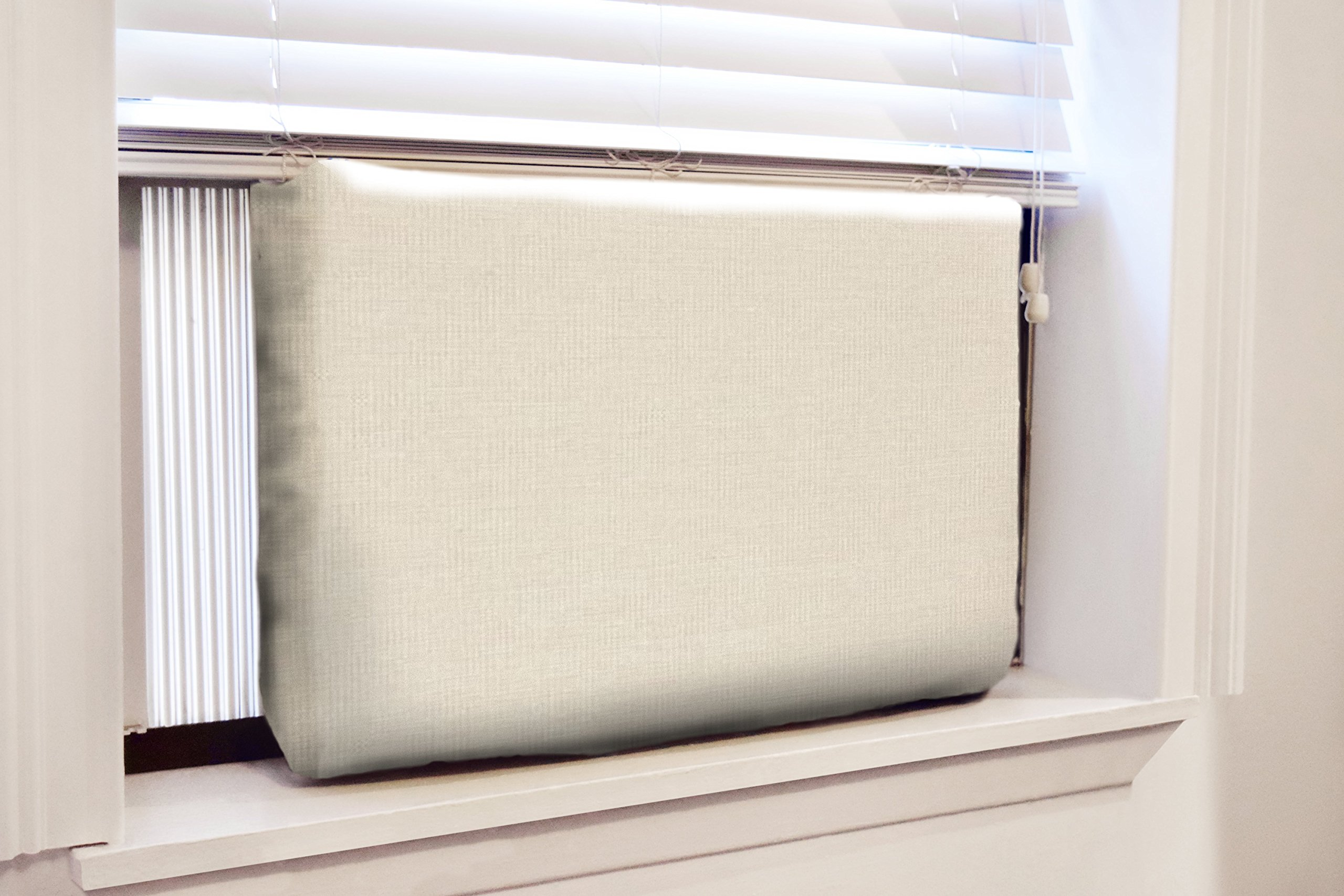 Gerrard Larriett Aromatherapy Pet Care Premium Quilted Indoor Air Conditioner Covers for Window Units 24'' W x 15'' H - Ivory