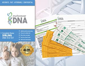 Sibling DNA Test Kit ▪ Most Advanced & Accurate-46 DNA (Genetic) Marker Test ▪ All Lab Fees Included ▪ Offered by My Forever DNA