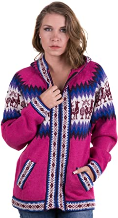 396ce237b565 Gamboa - Alpaca Hooded Cardigan for Women - Zippered Alpaca Jacket ...