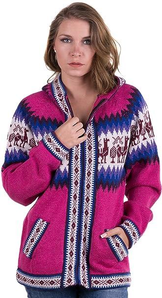 Amazon.com: Gamboa Andina Rosa Las Mujeres chamarra chaqueta ...
