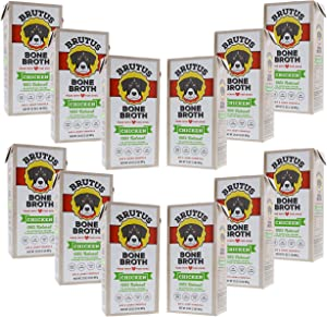 Brutus Bone Broth for Dogs | 100% Natural | Made in USA | Glucosamine & Chondroitin for Healthy Joints | Human Grade Ingredients | Hydrating Dog Food Topper for All Ages