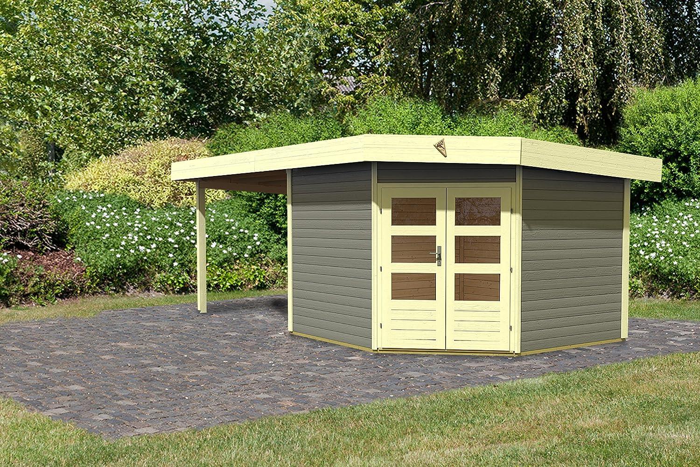 Caribú jardín Corner Cube 2 recubierto con 300 cm color gris con EPDM-conjunto de diapositivas: Amazon.es: Jardín
