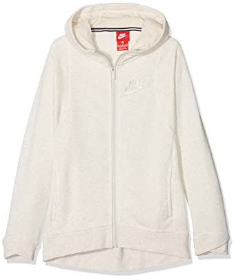 df2e5c44946fc Image Unavailable. Image not available for. Color  Nike Sportswear Older  Girls Modern Full Zip Hoodie Sweatshirt Beige Size Large ...