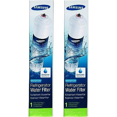 2 x Cartuchos de Filtro DA29-10105J Externo de Hielo & Agua de Refrigerador Samsung Aqua Pure