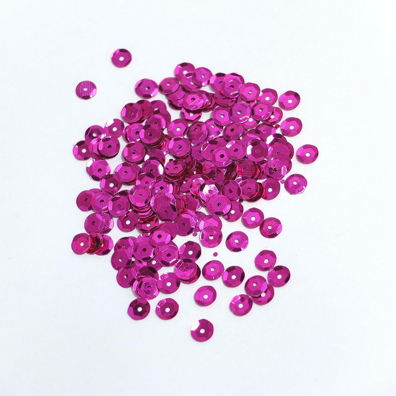 pink SiDeSo/® 11.000 St/ück 150g Pailletten 6mm metallic
