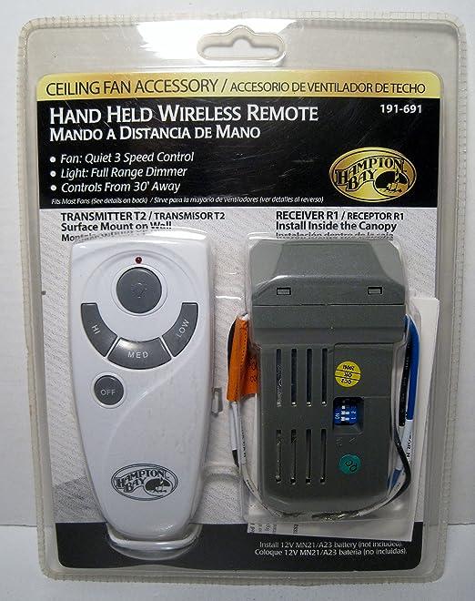 Hampton Bay Portable Ceiling Fan Remote Control: Amazon.es ...